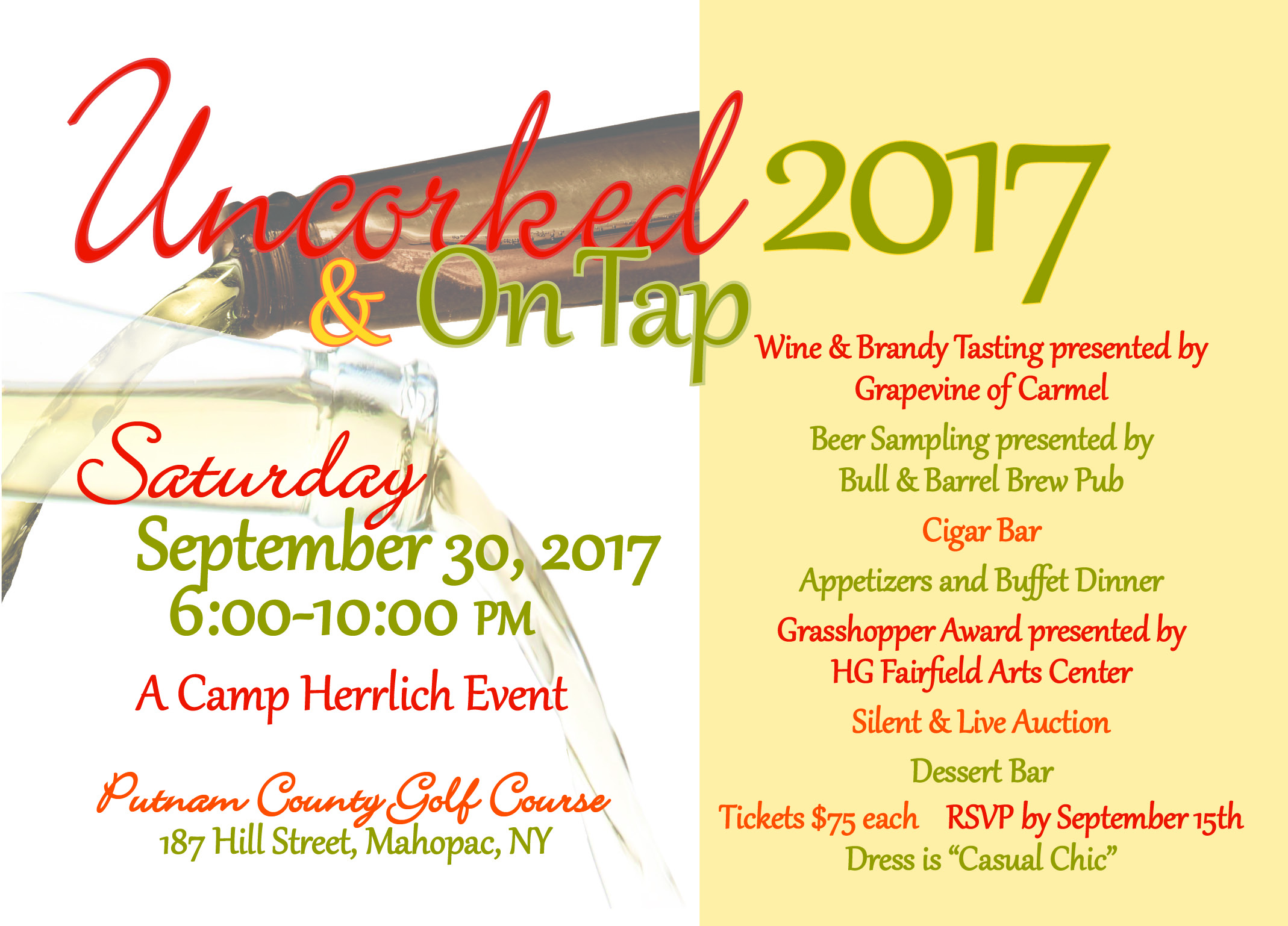 Uncorked and On Tap Invite